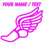 Custom Pink Winged Running Shoe