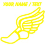 Custom Yellow Winged Running Shoe