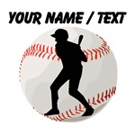 Custom Baseball Batter Silhouette