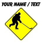 Custom Hockey Player Crossing