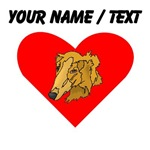 Custom Goldendoodle Heart