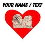 Custom Lhasa Apso Heart