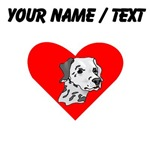 Custom Dalmatian Face Heart