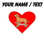 Custom Labrador Retriever Heart