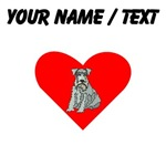 Custom Kerry Blue Terrier Heart