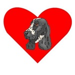 English Springer Spaniel Heart