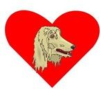 Afghan Hound Heart