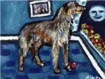 Deerhound whimsical art