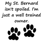 Well Trained St. Bernard Owner