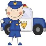 Stick Figure Police Officer