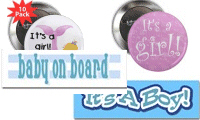New Baby Buttons, Magnets, Stickers!
