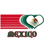 Mexican Flag Striped Hearts