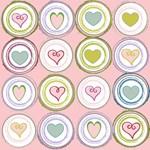 Badge of Hearts Pink