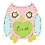 Personalize it! Lovely Owl-Petal