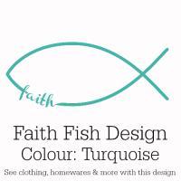 Turquoise Faith Fish