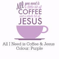 Coffee and Jesus Purple Design