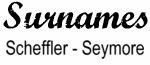Vintage Surname - Scheffler - Seymore