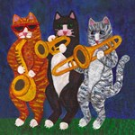 The Cats Brass Section at Night