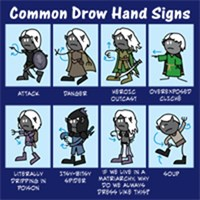 Common Drow Hand Signs