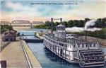 Ohio River Boat in Canal Locks,Louisville KY, 1930