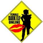 Female Dark Elf Online MMORPG Tshirts, Clothing &
