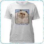 Cream Persian Cat T-Shirts and Gifts
