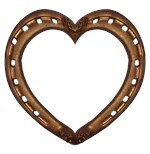 gold horse shoe heart