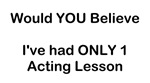 Acting Lessons