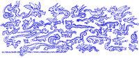 Lots O' Dragons China Blue