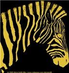 Zebra Portrait Gold Right