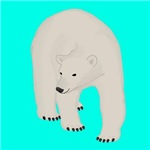 Polar Bear on Turquoise