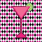 Pink Cocktail on Diamonds
