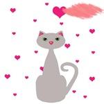 Pink Gray Cat