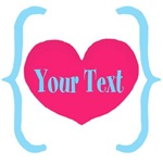 Personalizable Pink Teal