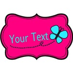 Personalizable Teal Pink Butterfly
