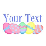 Blue Easter Eggs Personalizable