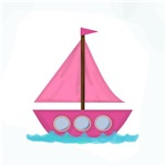 Pink Sailboat in Water