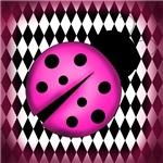 Pink Black Ladybug