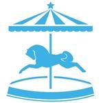 Blue Carousel Pony
