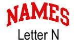 Names (red) Letter N