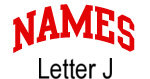 Names (red) Letter J