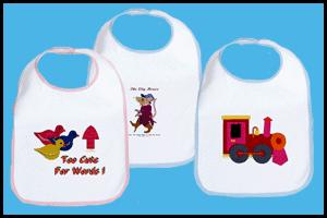 BABY BIBS WITH CUTE PICTURES