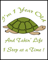 1st BIRTHDAY T-SHIRTS TURTLE