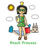 Beach Princess (Black Hair)