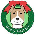 American Staffordshire Terrier Christmas Ornaments