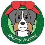Australian Shepherd Christmas Ornaments
