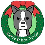 Boston Terrier Christmas Ornaments