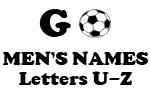 Soccer (Go Men Letter U-Z)