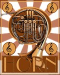 Retro French Horn