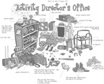 Activity Director Office in grayscale